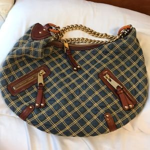 -MARC JACOBS- denim quilted bag